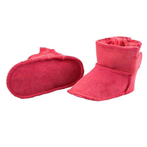 SmileBaby chaussons en peau de mouton dans différentes couleurs Rouge