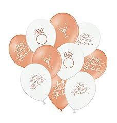 Idea Regalo - Great Stuff - Palloncini per addio al nubilato, colore oro rosa, bianco, set da 10 pezzi
