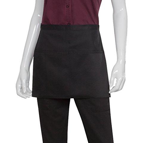 Chef Works f23bk Nero VNECK grembiule Tuxedo