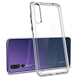 Spigen [Ultra Hybrid] [Crystal Clear] Case Compatible for Huawei P20 Pro, Flexible TPU Hard PC Back All Round Protection Phone Cover for Huawei P20 Pro Case
