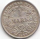 Generic Deutsches Reich Jägernr: 17 1914 D vorzüglich Silber vorzüglich 1914 1 Mark Großer Reichsadler im Eichen (Münzen für Sammler)