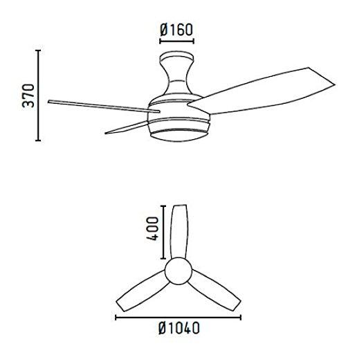 41Opl5t1e4L. SS500  - Faro 33455–Mini UFO Ceiling Fan Matte Nickel