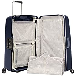 Samsonite S'Cure Dlx Spinner 69/25 Maletas y trolleys, 69 cm, 79 L, Azul (midnight blue)
