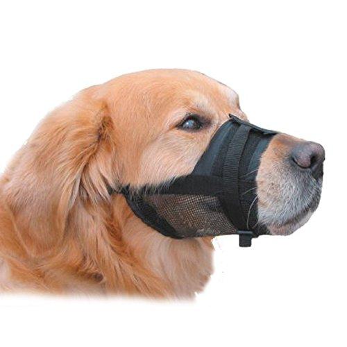 Xiaokesong® Maulschlaufe Nylon Verstellbarer Maulkorb Maulkörbe für Hunde 18 - 24 cm (L)