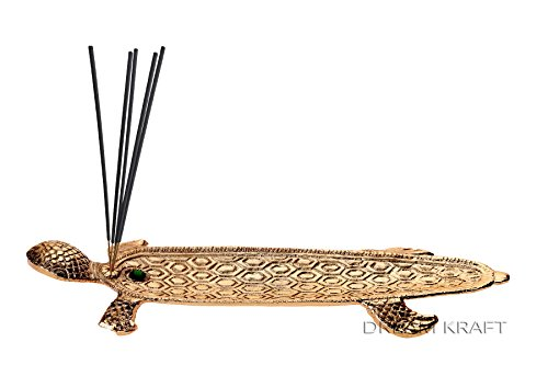 DreamKraft Metal Incense stick holder in Gold Color For Diwali and Festival Pooja (Gold)