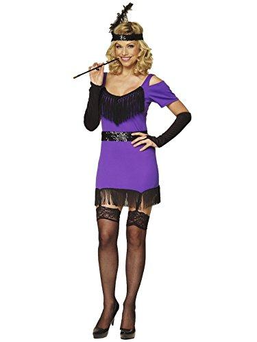 Kleid violett violett XL (UK 14) (40 S Flapper Kostüme)