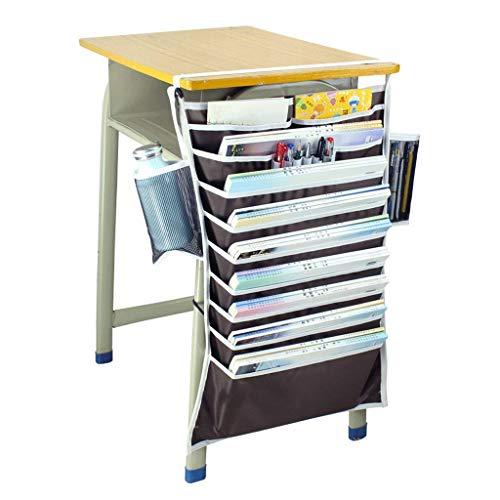 WXH-Datei Halter Bücherregal Schreibtischaufbewahrung Büchertasche Multifunktionale Hängetasche (Farbe : D, größe : 65cm*43cm)