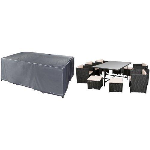 UN Poly-Rattan Lounge Set Palma (Poly-beschichtung)