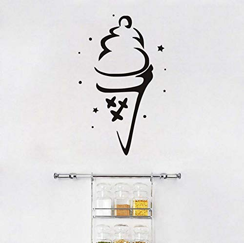 Patisserie Wand Dekorative Aufkleber Diy Weiß Eistüte Wohnkultur Wandaufkleber Küche Wasserdichte Wandtattoos Vinyl 27x44 cm