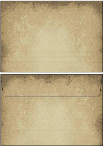 Briefumschläge altes Papier 50 Stück Kuverts DIN C6 ohne Fenster Ideenstadl 6602-C6