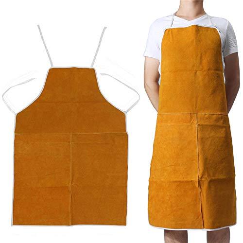 1x 70 * 100 cm Tablier de soudure en cuir taille unique peau, tablier de protection