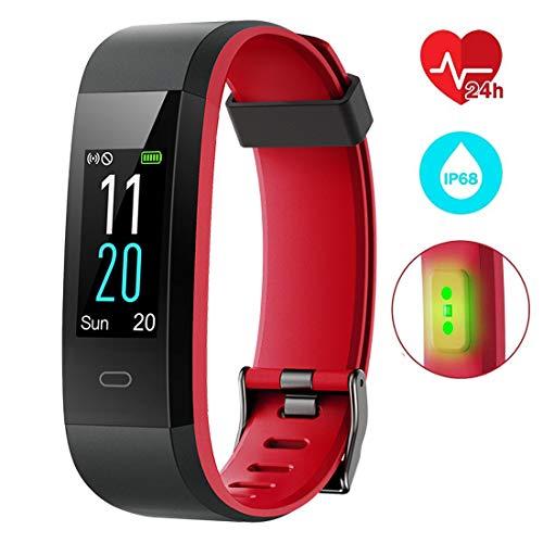 EUMI Montre Connectée, Fitness Tracker Imperméable IP68 Natation Poignet Cardiofréquencemètre...