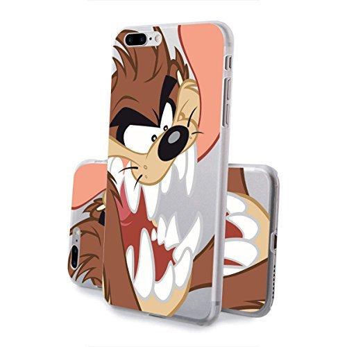 finoo | IPHONE 6 / 6S Lizensierte Hardcase Handy-Hülle | Transparente Hart-Back Cover Schale mit Looney Tunes Motiv | Tasche Case mit Ultra Slim Rundum-schutz | Tweety freut sich Taz Angry nah 2