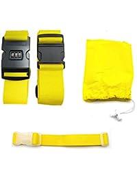 CHMETE 2Pcs Long Cross Luggage Strap Suitcase Travel Belt