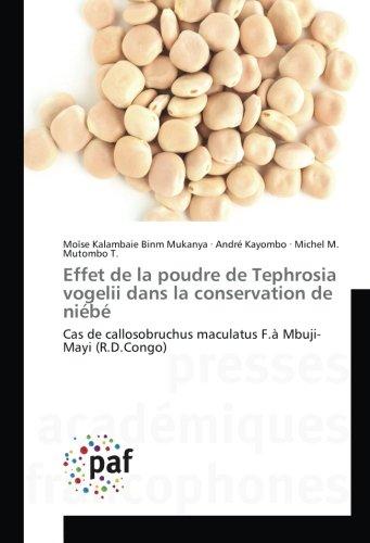Effet de la poudre de Tephrosia vogelii dans la conservation de niébé: Cas de callosobruchus maculatus F.à Mbuji-Mayi (R.D.Congo)