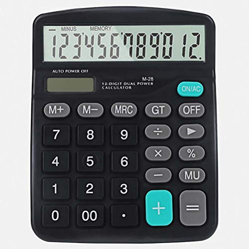 SayHia Mini Calculator,12-Digit Dual Power Handheld Desktop Calculator with Large LCD Display Big Sensitive Button (Calculator Basic)