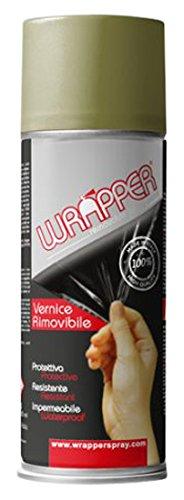Quattroerre 16440 Wrapper Spray Vernici Rimovibili Tinta Camouflage, Verde Canna