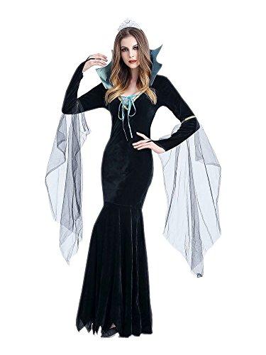 Honeystore Damen Halloween Vampir Kostüme Rollenspiel Hexe Cosplay Spiel Uniform Königin Allerheiligen (Krueger Freddy Kleinkind Für Kostüm)