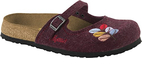 PAPILLIO BIRKENSTOCK MARIA FELT scarpe sandali pantafole ciabatte feltro (38 EU, RED)