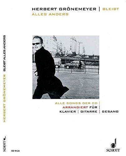 Preisvergleich Produktbild Bleibt alles anders: Alle Songs der CD. Klavier, Gitarre und Gesang. Songbook.