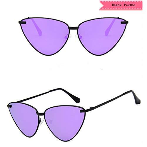 WZYMNTYJ Neue sexy Lady Retro cat Eye Sonnenbrille Frauen Vintage metallrahmen klar lila linsen Sonnenbrille für weibliche uv400
