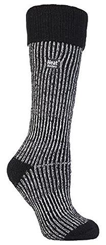 Heat Holders - Damen wärme winter thermosocken für gummistiefel stiefelsocken in 4 Farben 37-42 EUR (New Long Boot) (Schwarz)