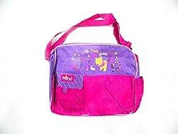 Winnie th pooh pink purple diaper bag