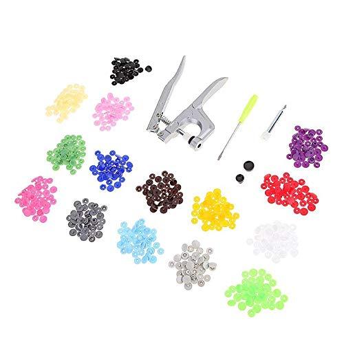 Bureze 1SET Metal Press pinze Strumenti utilizzati per T3T5T8Kam Bottoni Pinza + 150Set T5plastica Resina a Bottoni Cucito Attrezzi 02