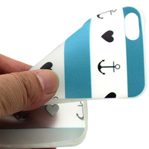 Cuitan Klar Weiche Gel TPU Schutzhülle Hülle für Apple iPhone 6 / 6S 4.7 Inch, Nacht Leuchtende Flexibel Rückseite Hülle Handyhülle Telefonkasten Back Case Cover Shell für iPhone 6 / 6S - Muster 04 Muster 03