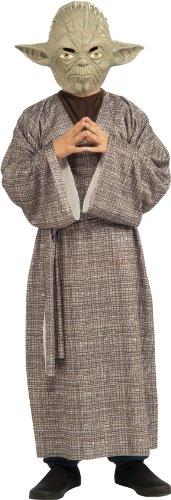 Kinderkostüm Star Wars Kostüm für Kinder Gr. 104 - 152, Größe:M (Yoda Halloween-kostüm)