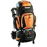 AspenSport Rucksack Long March, schwarz/orange, 80 x 45 x 32 cm, 70 Liter, AB05Y04