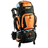 AspenSport Unisex Rucksack Long March, schwarz/orange, 80 x 45 x 32 cm, 70 liters, AB05Y04