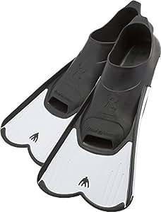 Cressi Light, Pinne Corte Leggere e Potenti per Nuoto e Snorkeling Unisex, Bianco, 37/38