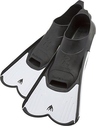 Cressi light, pinne corte leggere e potenti per nuoto e snorkeling unisex, bianco, 41/42