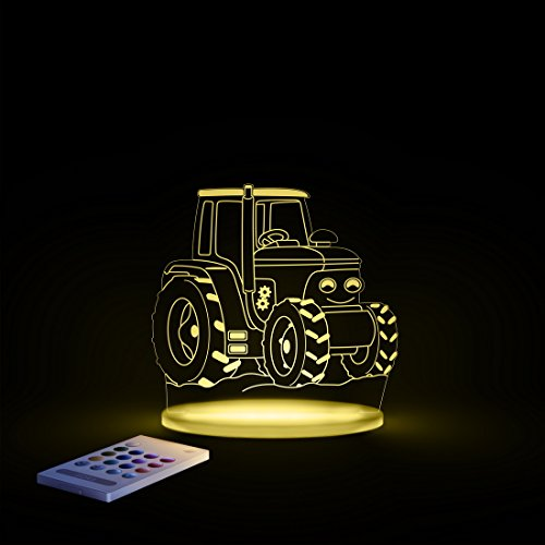 Aloka Traktor Motiv Nachtlicht - Kinderzimmer Baby LED Lampe Farbwechsel Fernbedienung Schlafmodus, Mehrfarbig - 6