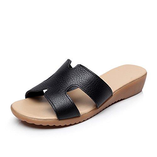 ZPPZZP Ms sandali pantofole estate piatta e con bassa scanalato 35EU