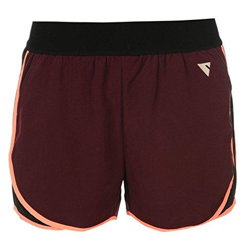 YAS Damen Pipe Layer Shorts Training Sport Leicht Kurze Hose Gummibund Potent Lila