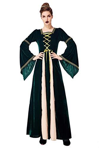 Mittelalter Kostüm Renaissance Vintage Kleid Flare Langarm bodenlangen Palace Royal Court Cosplay Kostüm Damen - Royal Renaissance Kostüm