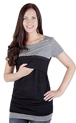 Mija - Umstandsmode / 2in 1 Stillshirt Umstandsshirt / Stilltop Umstandstop