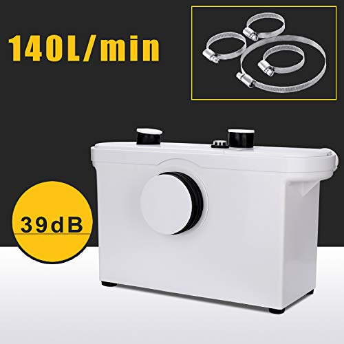 Hengda 600W 3/1 triturador sanitario bombeador WC Trituradora de Agua Residual para Baño Lavabo o Cocina Triturador Sanitario