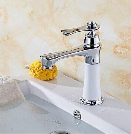 Aolomp Waschtischarmatur Luxus Chrome Kreatives Design Badezimmer Basin Sink Wasserhahn Deck Montiert Heißes Und Kaltes Wasser Mischbatterien (Luft Chrome Heiße)