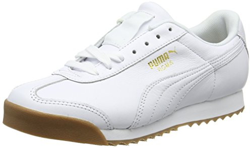 Puma Roma Classic Gum, Unisex-Erwachsene Low-Top, Weiß White Team Gold 1, 44 EU
