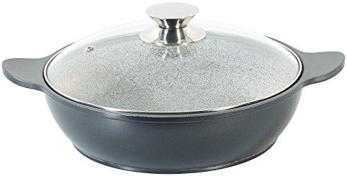 Tornwald-Schmiede Granit Pfanne: Granit-Stein-Schmorpfanne, Ø 24 cm (Granitsteinpfanne)