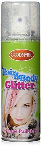 Eulenspiegel 819517 Profi Schminkfarben Glitzer Haarspray, silber, 1er Pack (1 x 125 ml)