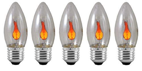 Eveready 5x 3w Kerze flackernde Flamme E27 (s11908) -