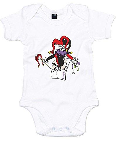 Harley Quinn, Gedruckt Baby Strampler - White/Transfer 3-6 Months (Onesies Und Batman Robin)