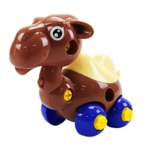 efsdhg Nehmen Neben Spielzeug, Push- und Powered Go Auto Spielzeug DIY Bauen zusammen Disassemble Spielzeug Dump Kamelsattelschlepper Ideal pädagogisches Spielzeug für Kinder