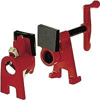 Bessey BPC-H12 - Juego de abrazaderas para tuberías, color negro y rojo