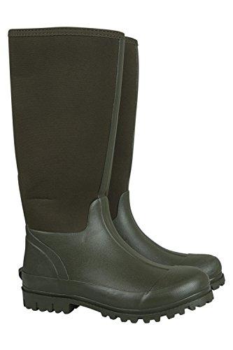 Mountain Warehouse Neoprene Mucker Freizeitgummistiefel für Herren - Wasserfeste Regenstiefel, Gummistiefel, strapazierfähige Schuhe - Zum Spazierengehen, Reisen Khaki 44