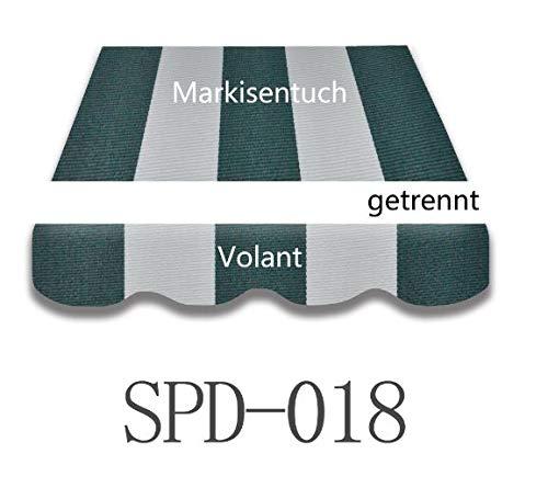 Markise tuch  Markisenbespannung Ersatzstoff  Volant 3x2,5m Gelb//weiß 021 NEU